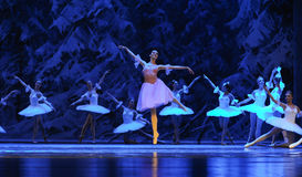 Clara came to the kingdom of ice-The first act of fourth field snow Country  -The Ballet  Nutcracker Stock Images