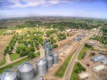 Clara Crossing är en liten lantbrukstad i North Dakota fotografering för bildbyråer