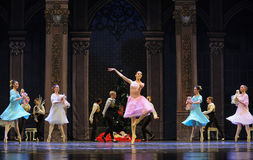 Clara dançou uma quebra-nozes bem-vinda do bailado da dança- fotografia de stock royalty free