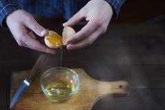 Clara de ovos e yolk separados imagem de stock