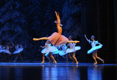 Clara liked everything here, flying-The first act of fourth field snow Country  -The Ballet  Nutcracker Stock Photography