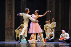 Clara and Prince dance-The Ballet  Nutcracker Royalty Free Stock Photography