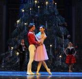 Clara a regardé autour curieusement du deuxième royaume de sucrerie de champ d'acte deuxièmes - le casse-noix de ballet Photos stock