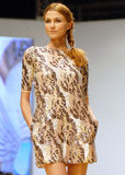 Clara Rotescu Collection on Catwalk at Bucharest Fashion Week Show royalty free stock image