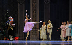 Clara's godfather Deluo Saier Myer took out the Nutcracker ugly in one's appearance-The Ballet  Nutcracker Stock Photo