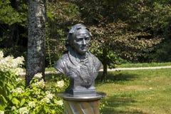Clara Schumann bust in Dahlia garden Royalty Free Stock Image