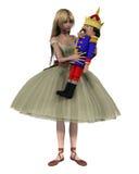 Clara y la muñeca del cascanueces - 1 Foto de archivo libre de regalías