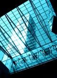 Clarabóia de vidro & de aço Fotografia de Stock
