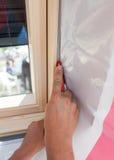 Claraboia isolada da janela do telhado no fundo branco Fotos de Stock Royalty Free