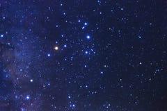 Claramente galáxia da Via Látea no phitsanulok em Tailândia Exposu longo imagens de stock