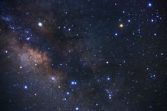 Claramente galaxia de la vía láctea en el phitsanulok en Tailandia Exposu largo Foto de archivo