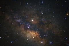 Claramente galaxia de la vía láctea en el phitsanulok en Tailandia Exposu largo Imagen de archivo libre de regalías