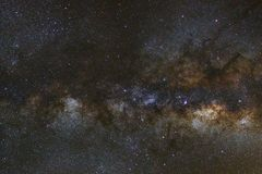 Claramente galaxia de la vía láctea en el phitsanulok en Tailandia Exposu largo Fotografía de archivo