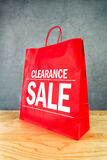 Clarance Sale Shopping Bag Stock Images
