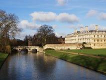 Clare överbryggar över flodkammen i Cambridge Fotografering för Bildbyråer