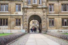 Clare College, Cambridge, England Stockbilder