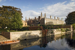 Clare College, Cambridge, UK. A view over the river Cam of Clare College, Cambridge, UK Stock Photos