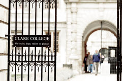 Clare college, Cambridge university, England Royalty Free Stock Photos