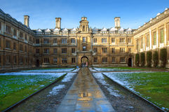 Clare College, Cambridge University, England. Old Court in Clare College, Cambridge University, England Stock Photography