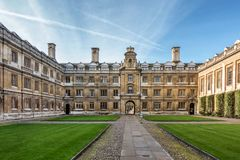 Clare College em Cambridge Fotografia de Stock Royalty Free