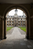 Clare college entrance cambridge University Royalty Free Stock Photos