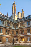 Clare college inner yard view, Cambridge Royalty Free Stock Images