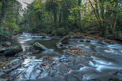 Clare glens 09-11-2016. The Glens consist of a picturesque red sandstone gorge through which the Clare River flows and displays numerous waterfalls royalty free stock image