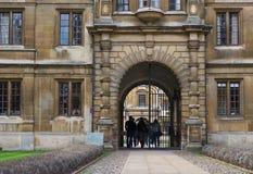 Clare szkoła wyższa, Cambridge, Anglia Obraz Royalty Free