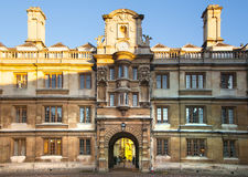 Clare szkoły wyższa jarda wewnętrzny widok, Cambridge Fotografia Royalty Free