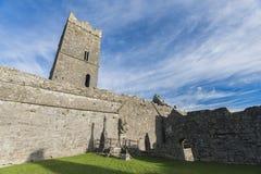 Clarecastle arruina la abadía en Irlanda Imagenes de archivo