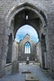 Clarecastle arruina la abadía en Irlanda Foto de archivo libre de regalías