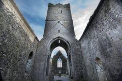 Clarecastle fördärvar abbotskloster i Irland Arkivfoton
