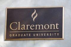 Claremont大学标志 免版税库存图片