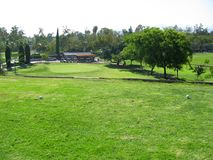 Claremont golfbana, Claremont, Kalifornien USA royaltyfri fotografi