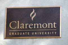 Claremont University Sign Royalty Free Stock Images