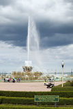 Clarence Buckingham Memorial Fountain al distri del parco di Chicago Fotografia Stock Libera da Diritti