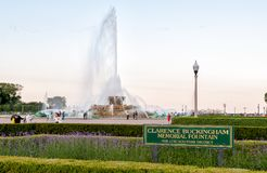 Clarence Buckingham Memorial Fountain in Chicago Grant Park Royalty-vrije Stock Foto's