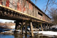 Clarence Covered Bridge royalty free stock photography