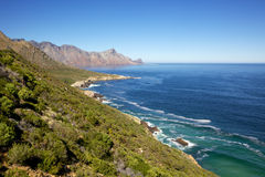 Clarence Drive. A view of False Bay from scenic Clarence Drive (the R44), between Gordon's Bay and Rooiels in the Western Cape, South Africa Royalty Free Stock Photography