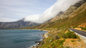 Clarence Drive R44. Scenic Clarence Drive (the R44), between Gordon's Bay and Rooiels in the Western Cape, South Africa Stock Photos