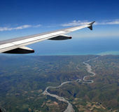 Clarence River Aerial, New Zealand Royalty Free Stock Images