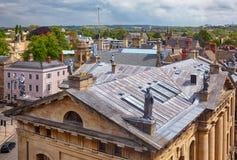 Clarendon byggnad, som sett från kupolen av den Sheldonian teatern oxford universitetar england arkivfoto