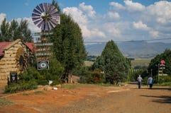 Clarens风车,自由州,南非 免版税库存图片