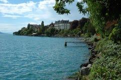 Clarens bij Geneve-meer in Zwitserland Royalty-vrije Stock Fotografie
