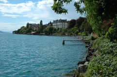 Clarens på Geneve sjön i Schweiz Royaltyfri Fotografi