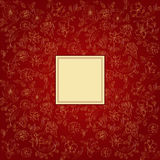 Claret background with decorative flowers Stock Photography