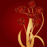 Claret background with tulips Royalty Free Stock Image