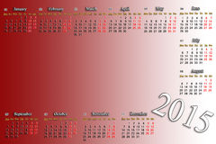 Claret calendar for 2015 year with place for image Stock Images