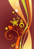 Claret curves background Stock Image