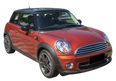 Claret mini cooper Stock Image